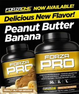 Forza Pro Peanut Butter Banana Flavor!