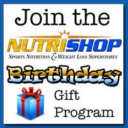 Nutrishop Birthday Gift Program